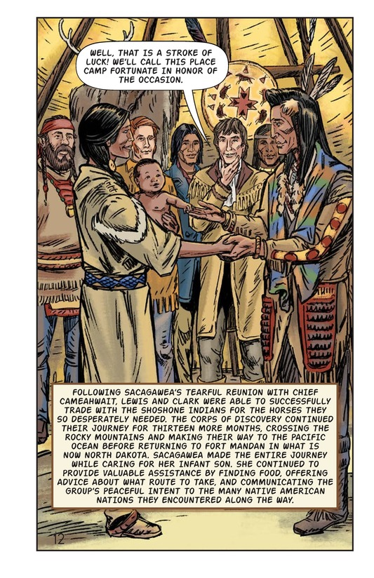Book Preview For Sacagawea: The Long Road Home Page 13