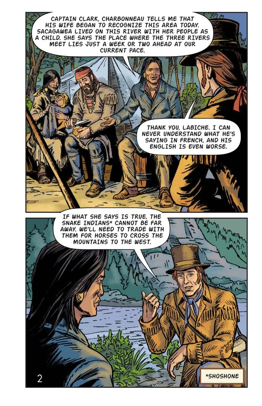 Book Preview For Sacagawea: The Long Road Home Page 3
