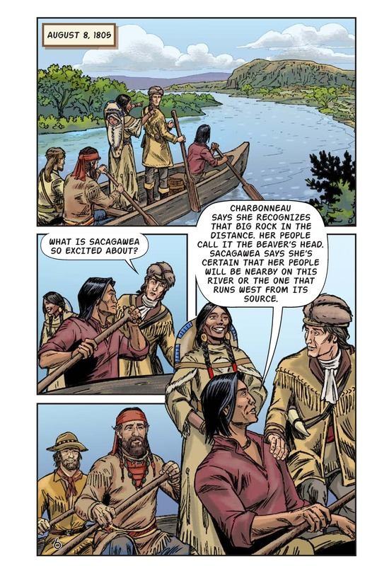 Book Preview For Sacagawea: The Long Road Home Page 7