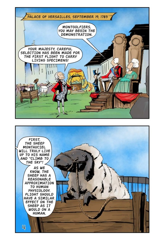 Book Preview For The Montgolfiers' Flying Animals Page 5