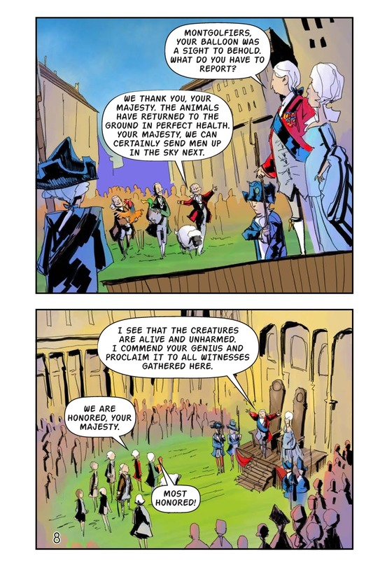 Book Preview For The Montgolfiers' Flying Animals Page 9