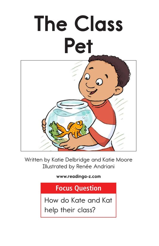 Book Preview For The Class Pet Page 1