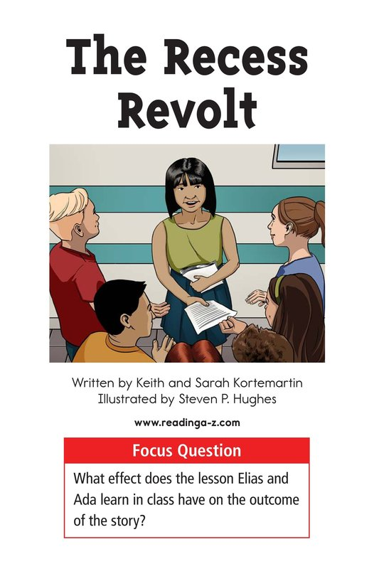 Book Preview For The Recess Revolt Page 1