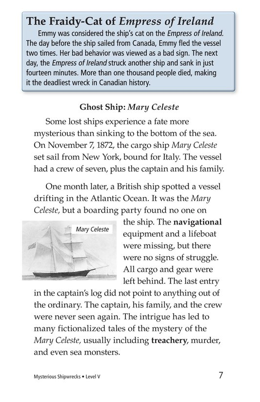 Book Preview For Mysterious Shipwrecks Page 7