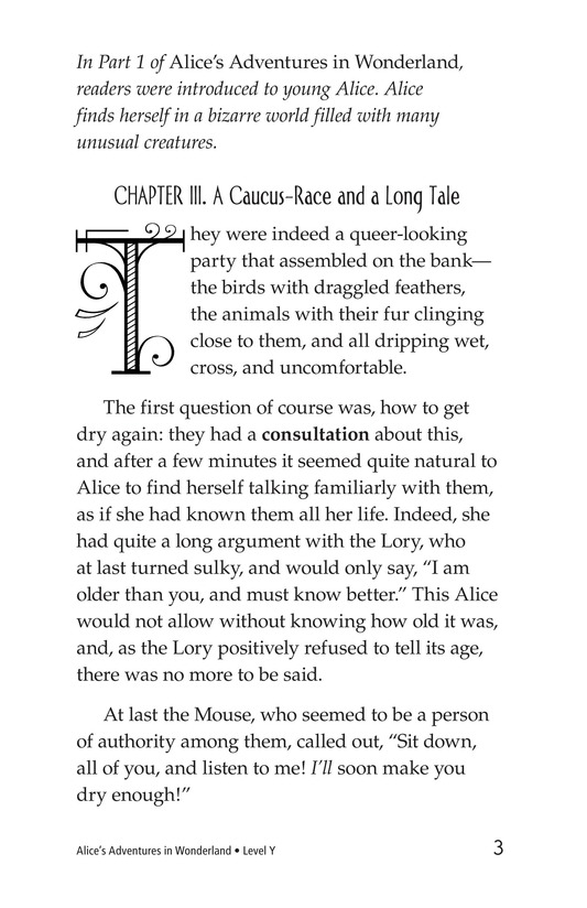Book Preview For Alice's Adventures in Wonderland (Part 2) Page 3