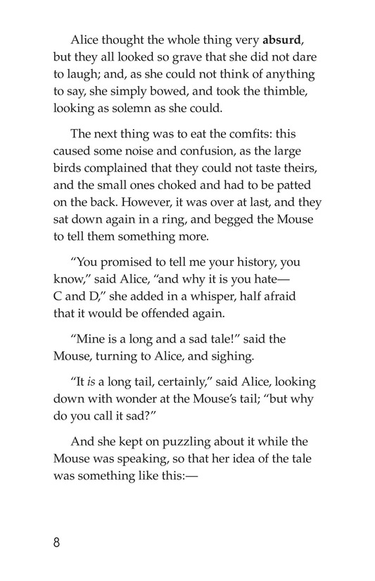 Book Preview For Alice's Adventures in Wonderland (Part 2) Page 8