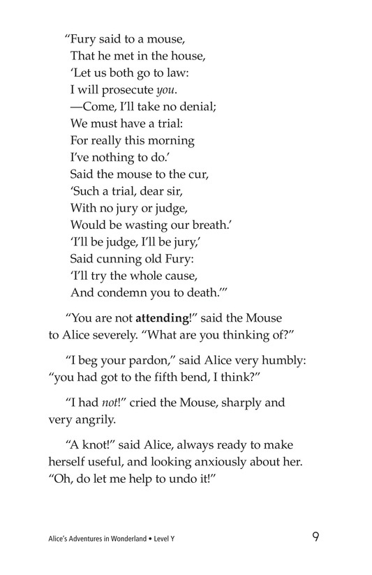 Book Preview For Alice's Adventures in Wonderland (Part 2) Page 9