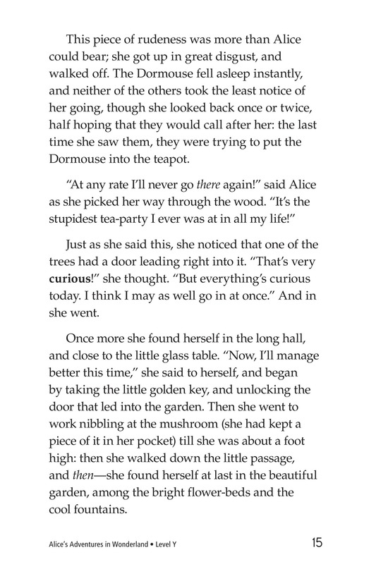 Book Preview For Alice's Adventures in Wonderland (Part 5) Page 15