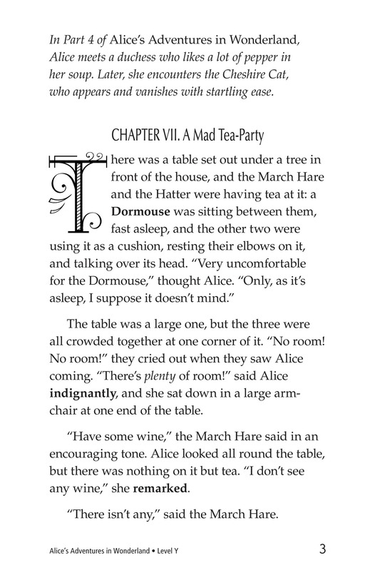 Book Preview For Alice's Adventures in Wonderland (Part 5) Page 3