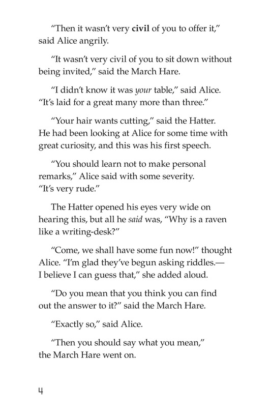 Book Preview For Alice's Adventures in Wonderland (Part 5) Page 4
