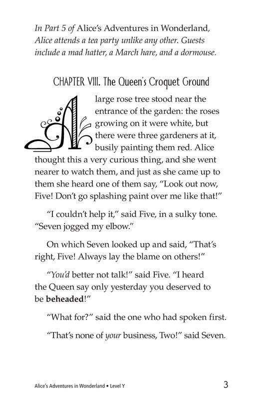 Book Preview For Alice's Adventures in Wonderland (Part 6) Page 3
