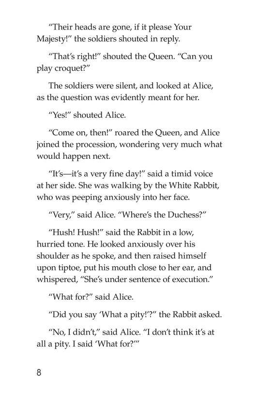 Book Preview For Alice's Adventures in Wonderland (Part 6) Page 8