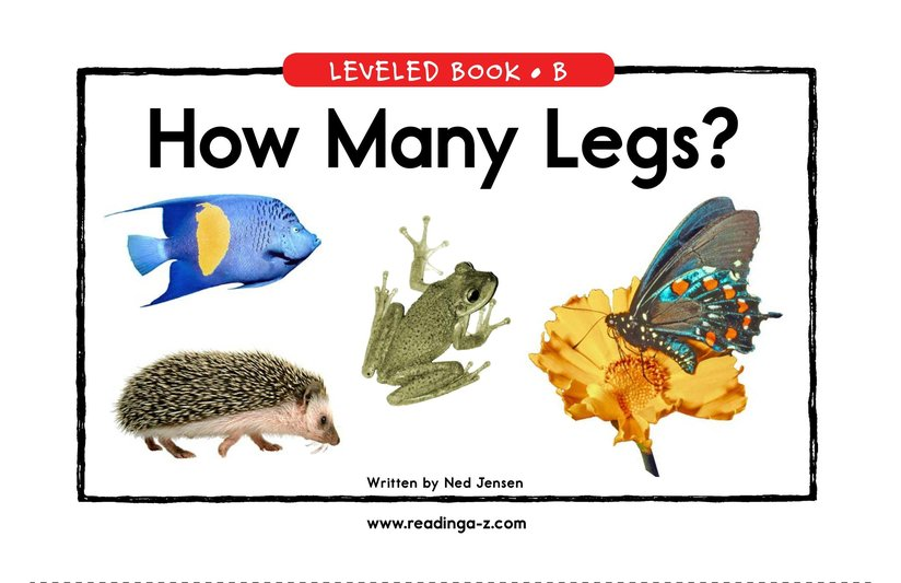 Book Preview For How Many Legs? Page 1