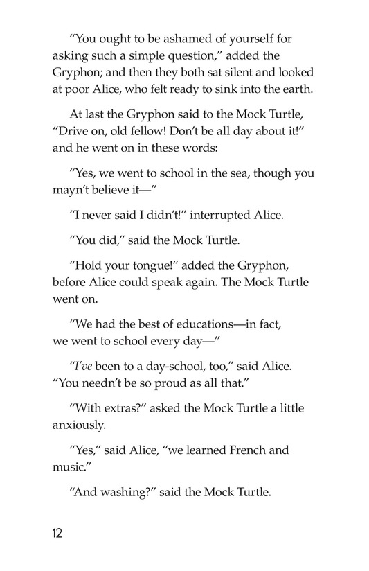 Book Preview For Alice's Adventures in Wonderland (Part 7) Page 12
