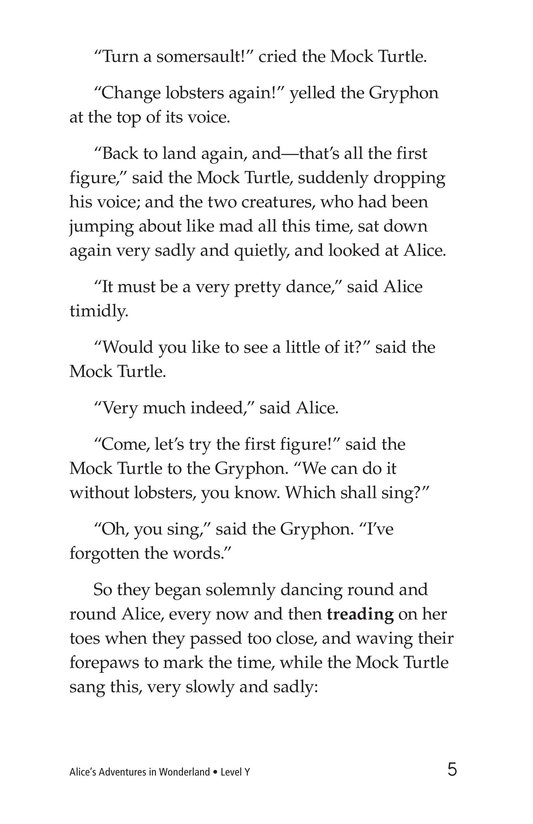 Book Preview For Alice's Adventures in Wonderland (Part 8) Page 5