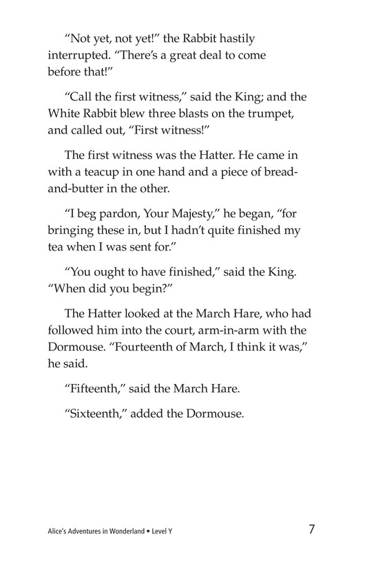 Book Preview For Alice's Adventures in Wonderland (Part 9) Page 7