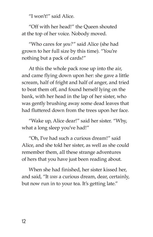 Book Preview For Alice's Adventures in Wonderland (Part 10) Page 12