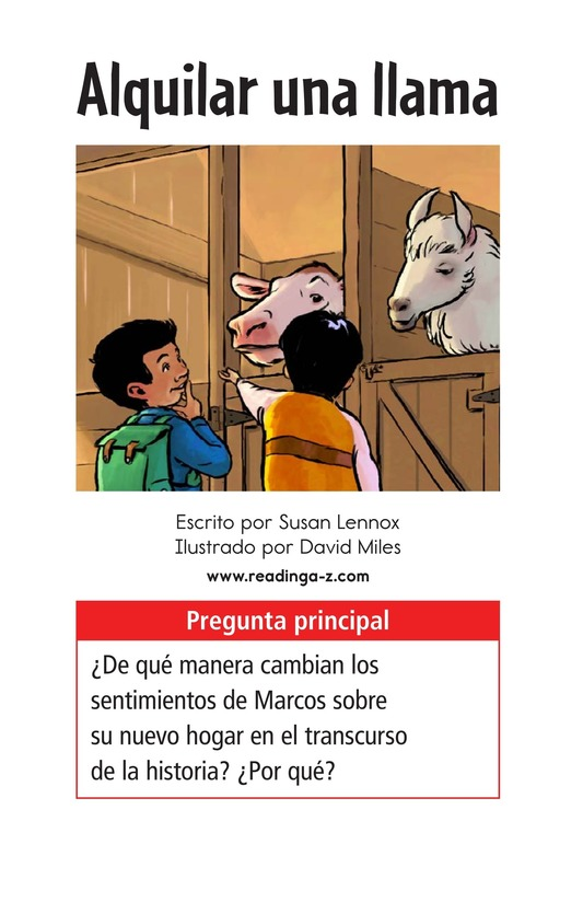 Book Preview For Rent a Llama Page 1
