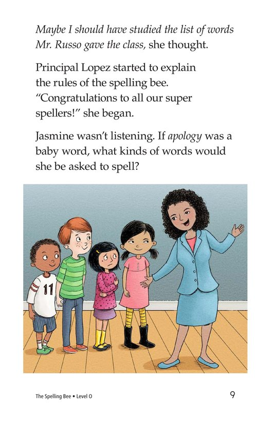 Book Preview For The Spelling Bee Page 9