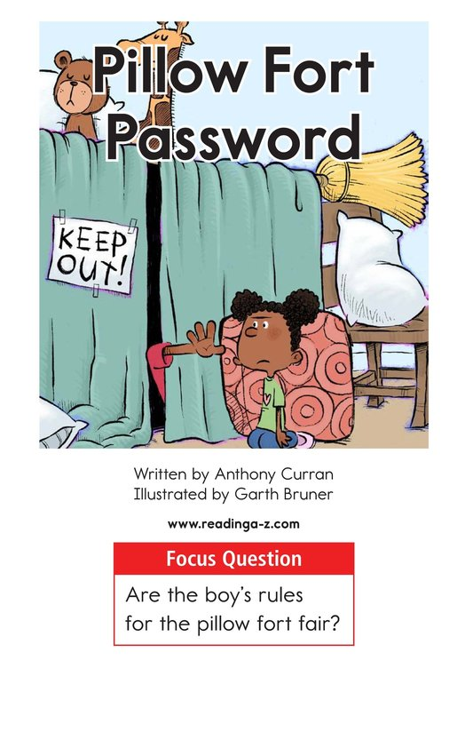 Book Preview For Pillow Fort Password Page 1