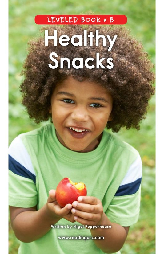 Book Preview For Healthy Snacks Page 0