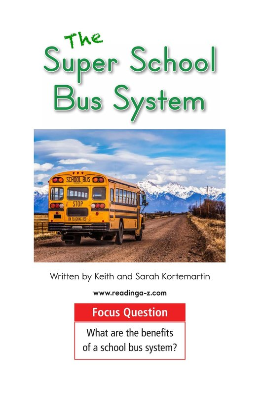 Book Preview For The Super School Bus System Page 1