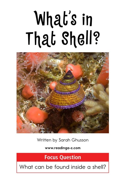 Book Preview For What's In That Shell? Page 1