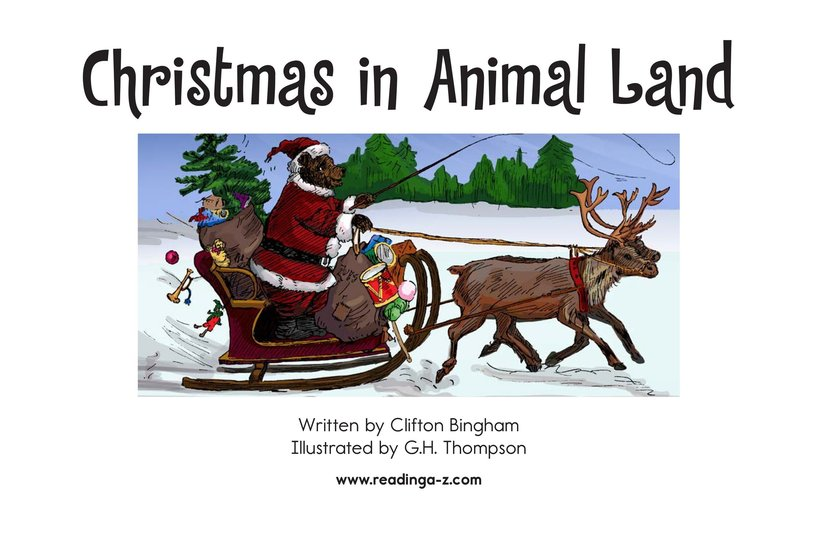 Book Preview For Christmas in Animal Land Page 2