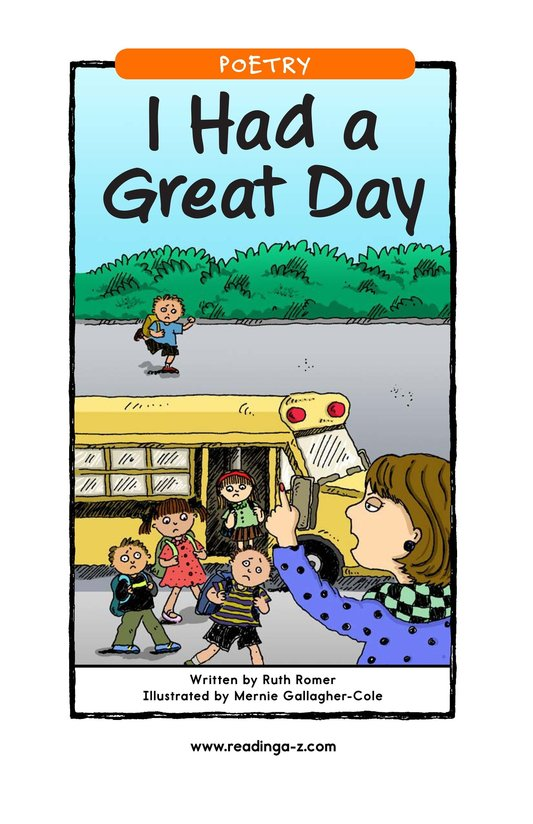 Book Preview For I Had a Great Day Page 1