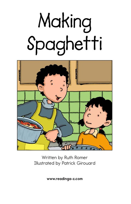 Book Preview For Making Spaghetti Page 2