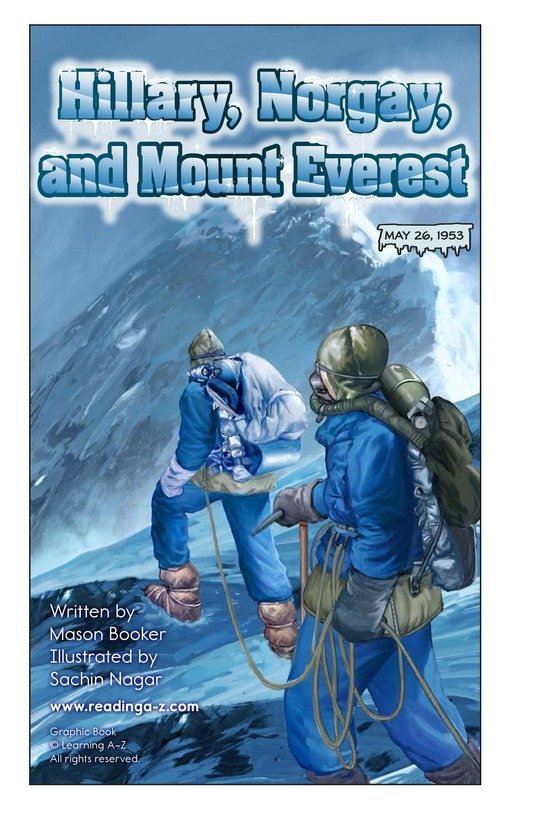 Book Preview For Hillary, Norgay, and Mount Everest Page 2
