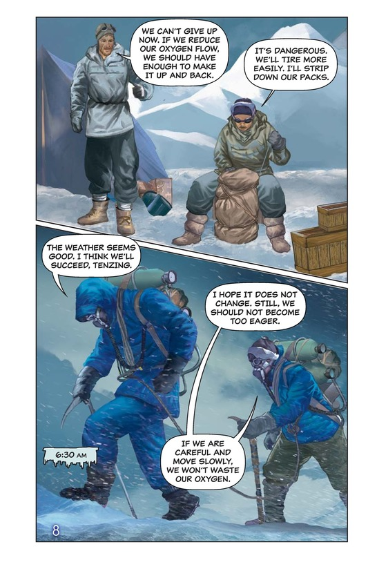 Book Preview For Hillary, Norgay, and Mount Everest Page 9