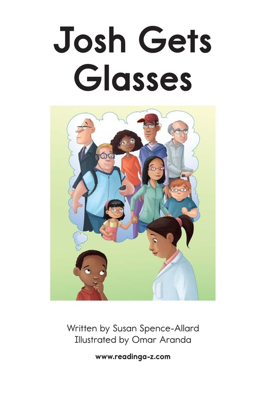 Book Preview For Josh Gets Glasses Page 2