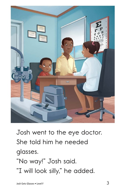 Book Preview For Josh Gets Glasses Page 3