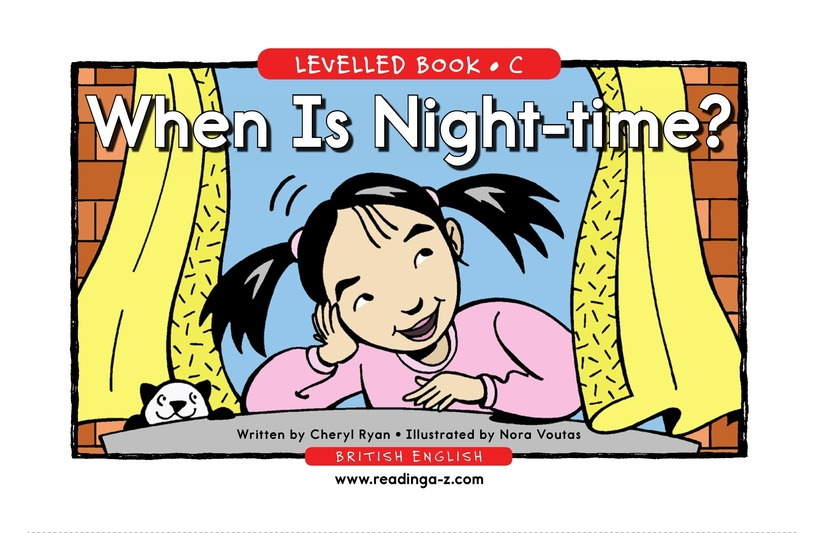 Book Preview For When Is Nighttime? Page 1