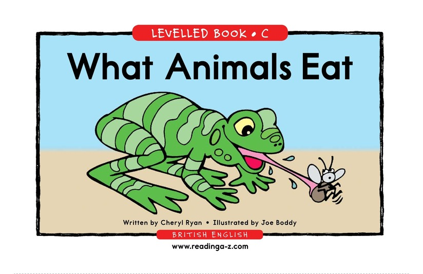 Book Preview For What Animals Eat Page 1