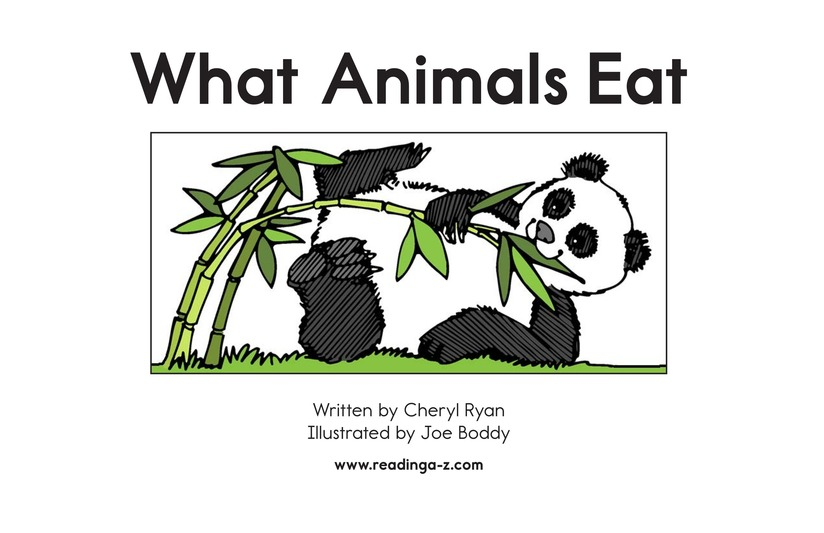 Book Preview For What Animals Eat Page 2