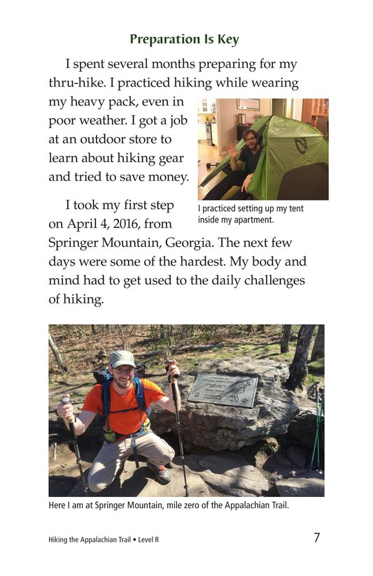 Book Preview For Hiking the Appalachian Trail Page 7