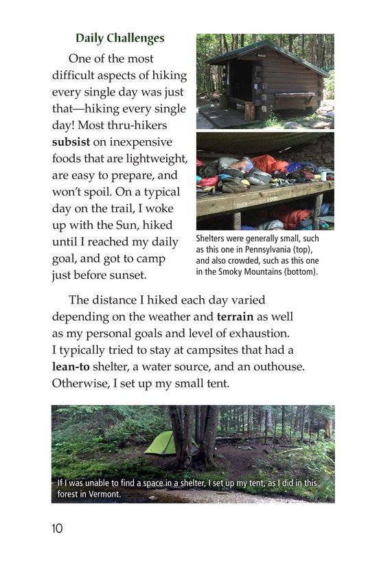 Book Preview For Hiking the Appalachian Trail Page 10