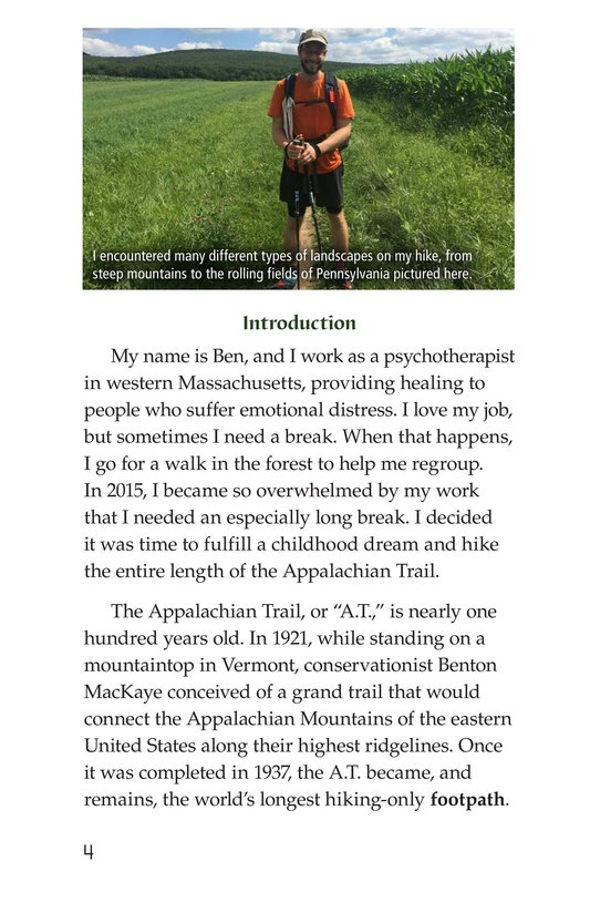 Book Preview For Hiking the Appalachian Trail Page 4