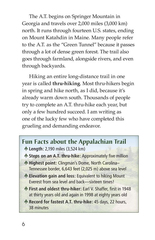 Book Preview For Hiking the Appalachian Trail Page 6