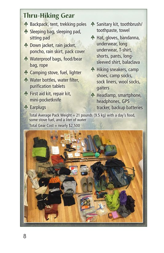 Book Preview For Hiking the Appalachian Trail Page 8