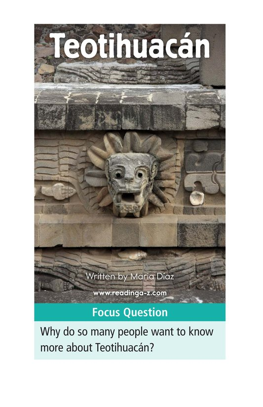 Book Preview For Teotihuacan Page 1