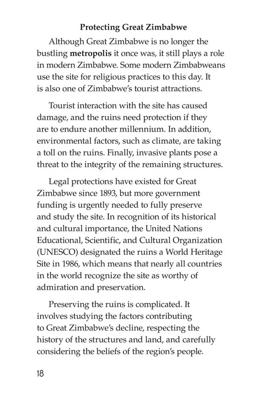 Book Preview For Great Zimbabwe Page 18