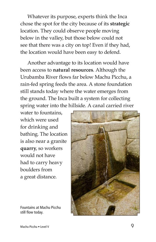 Book Preview For Machu Picchu Page 9