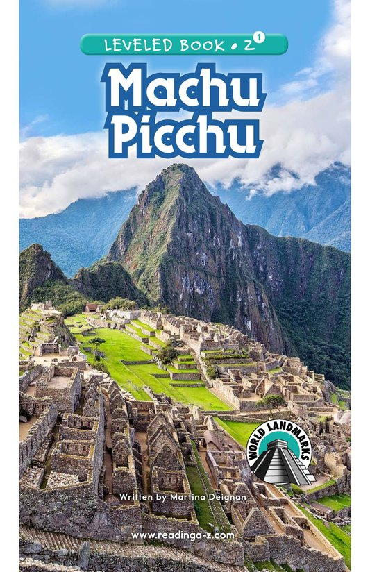 Book Preview For Machu Picchu Page 0