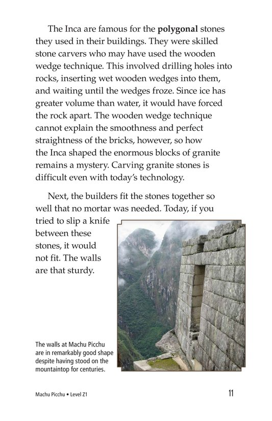 Book Preview For Machu Picchu Page 11