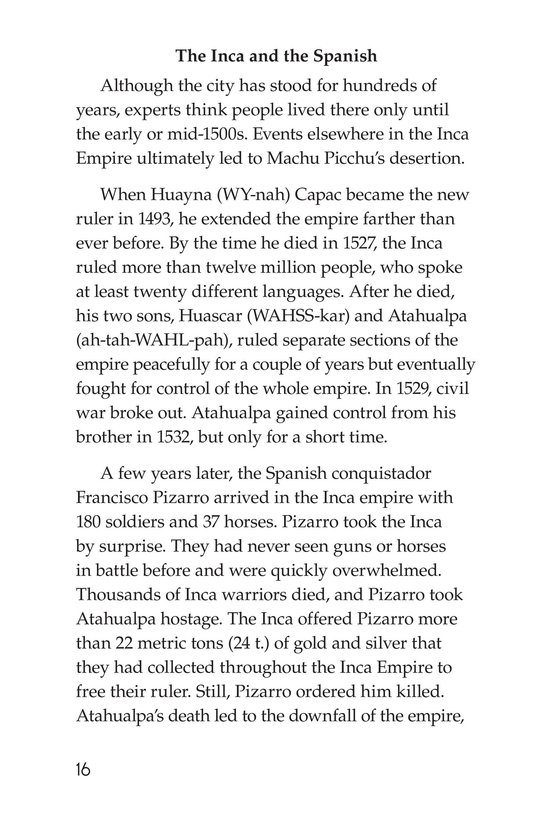 Book Preview For Machu Picchu Page 16
