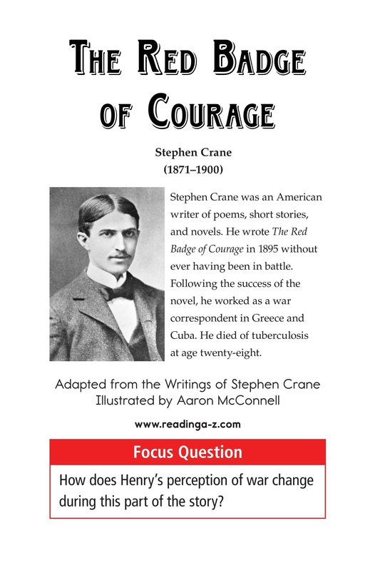 Book Preview For The Red Badge of Courage (Part 1) Page 1