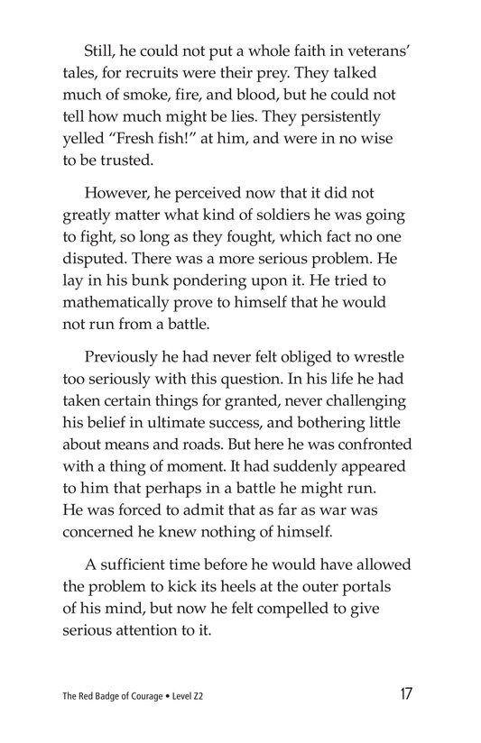 Book Preview For The Red Badge of Courage (Part 1) Page 17